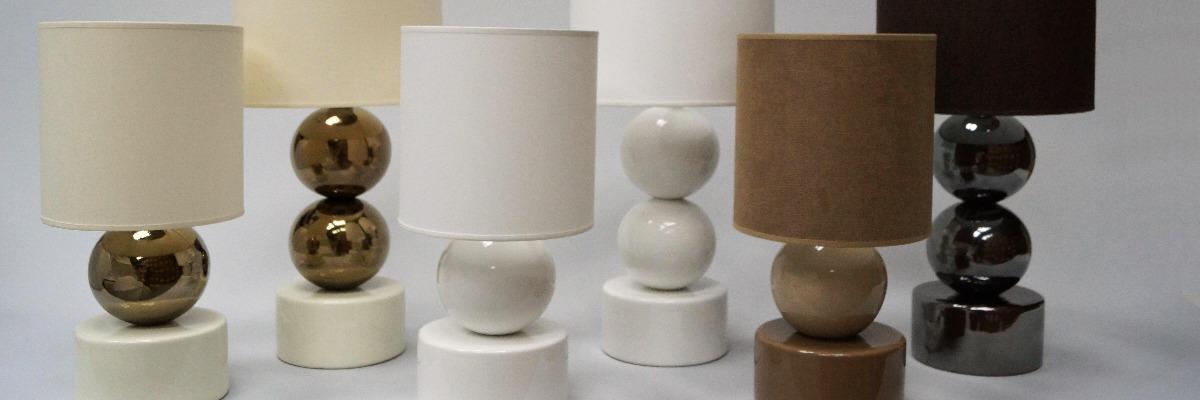 Grupa ceramicznych lampek nocnych PERLA